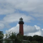 Lighthouse on the ICW approachiing North Palm Beach